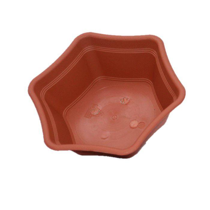 Vaso plastico hexagonal ceramica - kit 06 un