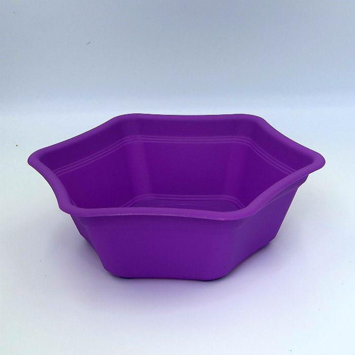 Vaso plastico hexagonal - roxo