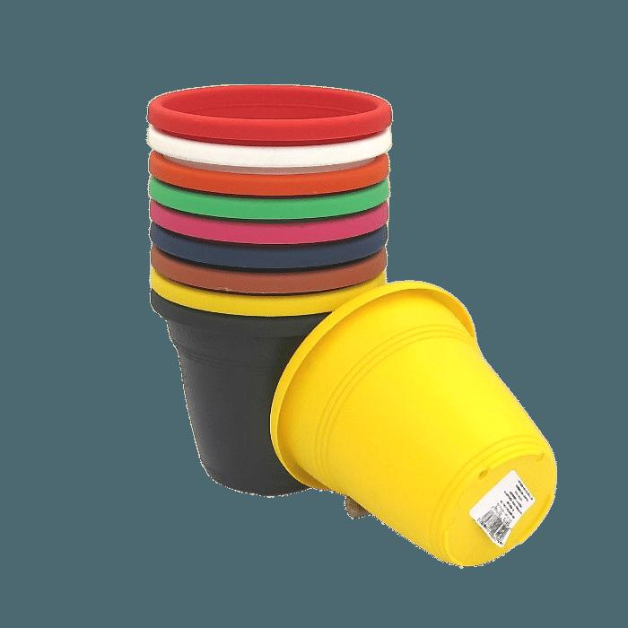 Vaso plástico - kit colorido - 10 x 13 cm - 01 unidade