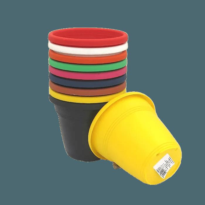 Vaso plástico - kit colorido - 10 x 13 cm - 10 unidades