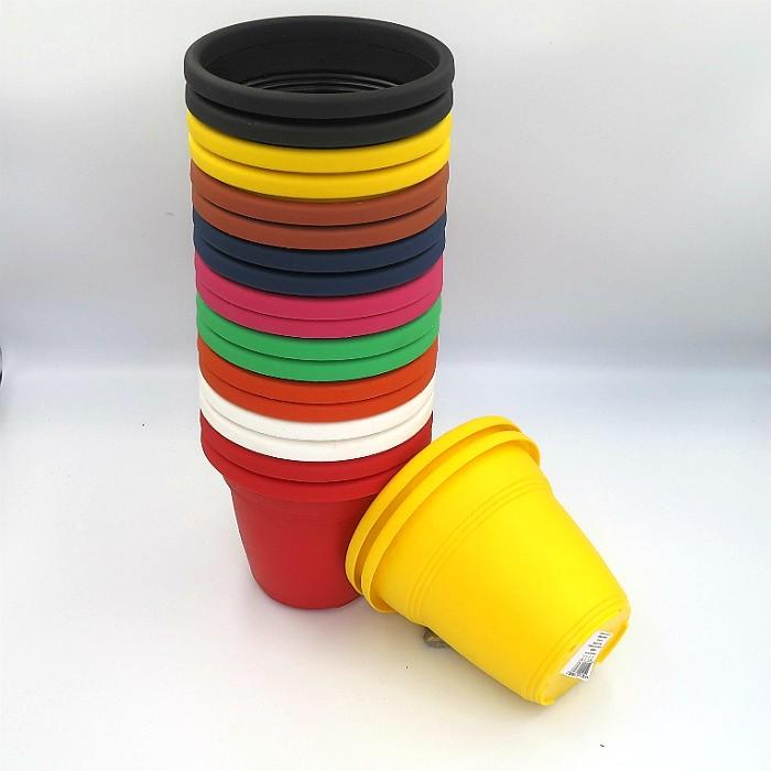 Vaso plástico - kit colorido - 10 x 13 cm - 20 unidades