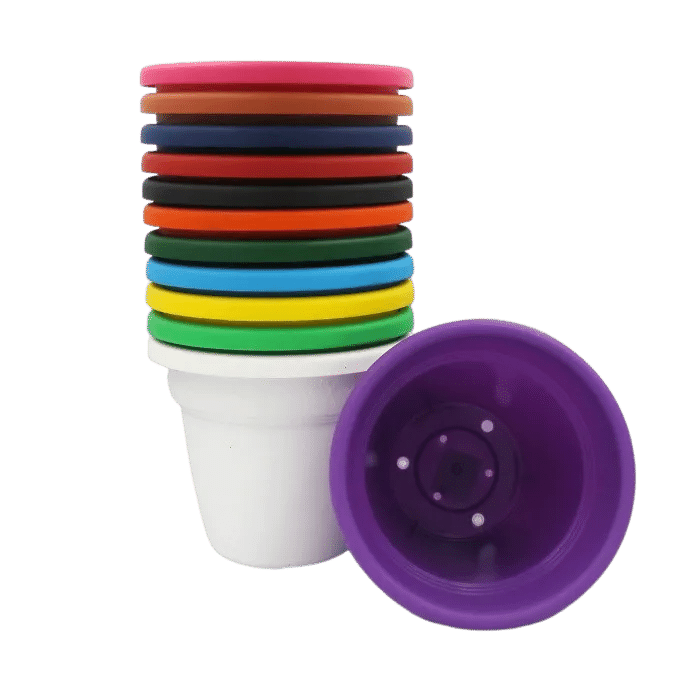 Vaso plastico - kit colorido - 16 x 19 cm - 03 unidades