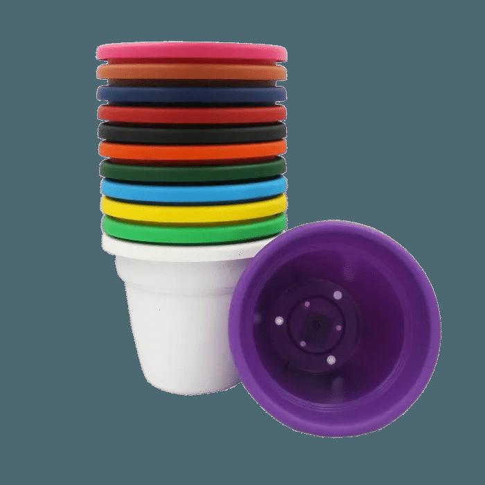 Vaso plastico - kit colorido - 16 x 19 cm - 06 unidades
