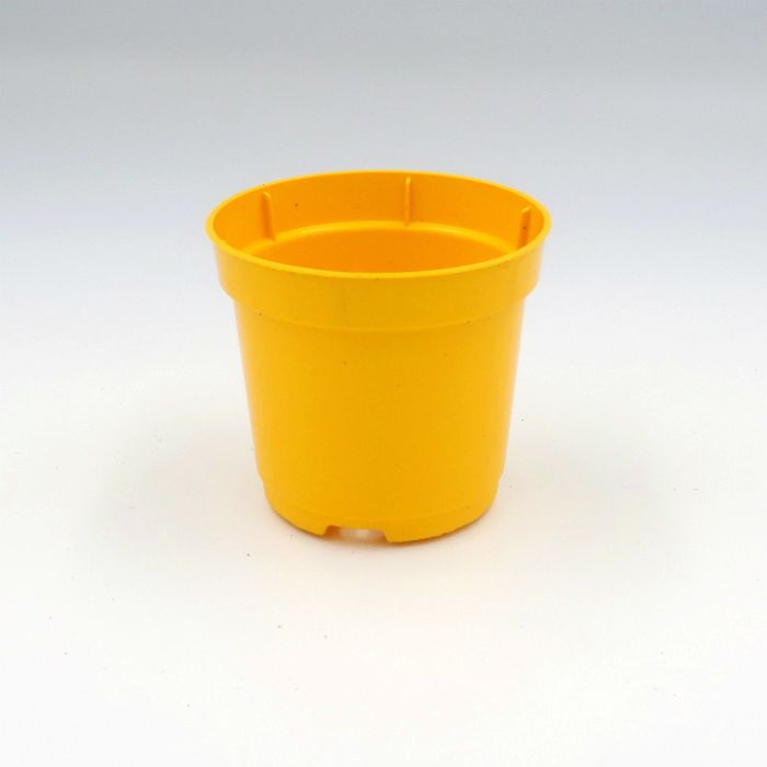 Vaso plastico - pote 06 - amarelo