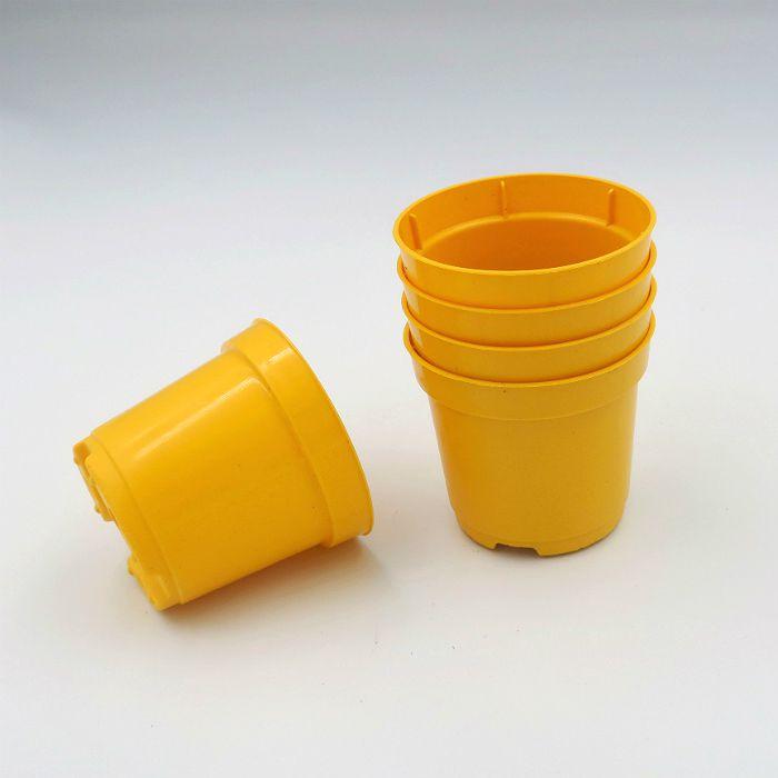 Vaso plastico - pote 06 - amarelo - kit 72 un