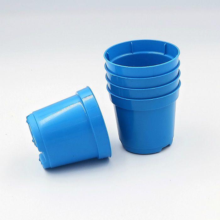 Vaso plastico - pote 06 - azul - kit 72 un