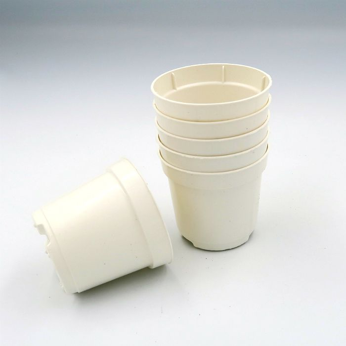 Vaso plastico - pote 06 - branco - kit 18 un