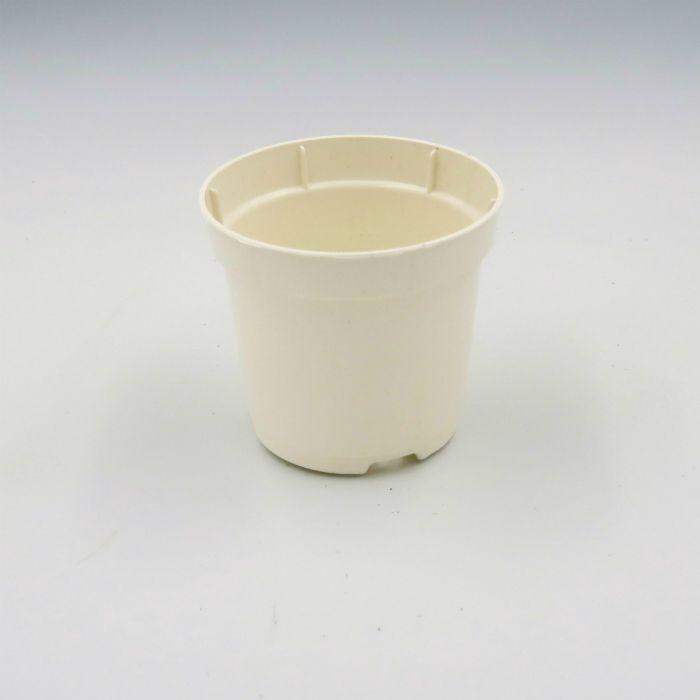 Vaso plastico - pote 06 - branco - kit 36 un