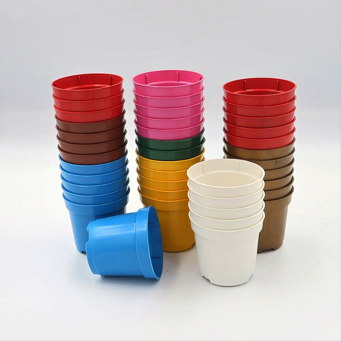 Vaso plastico - pote 06 - colorido - kit 18 un