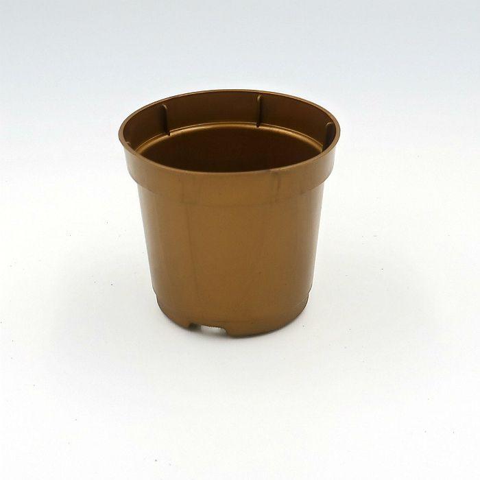 Vaso plastico - pote 06 - dourado - kit 18 un