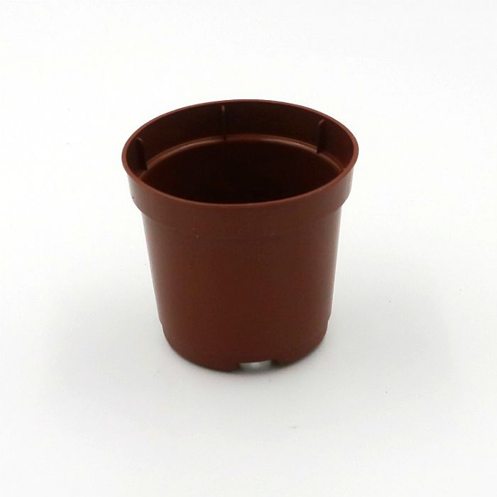 Vaso plastico - pote 06 - marrom