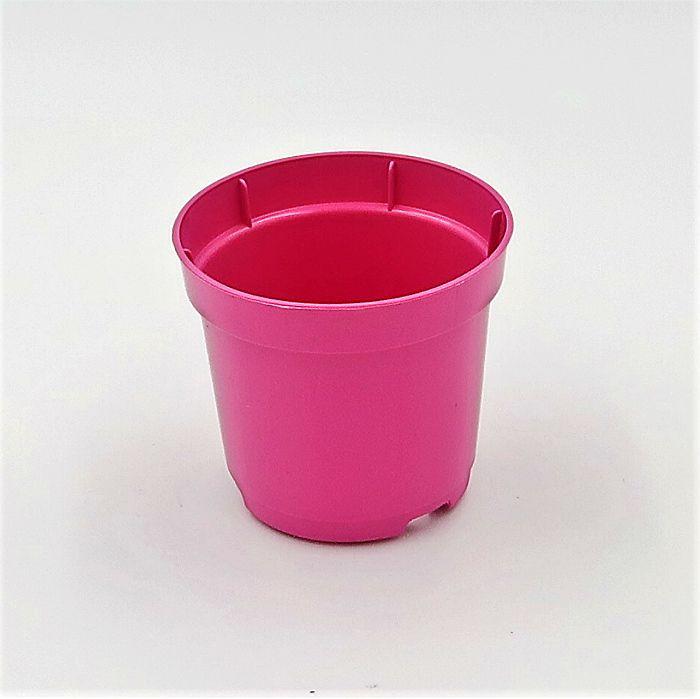 Vaso plastico - pote 06 - rosa - kit 18 un