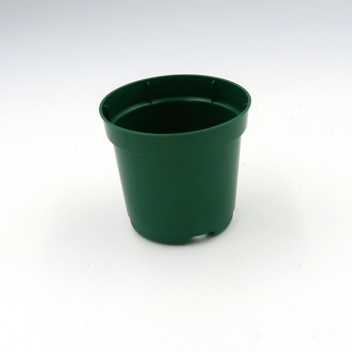 Vaso plastico - pote 06 - verde escuro