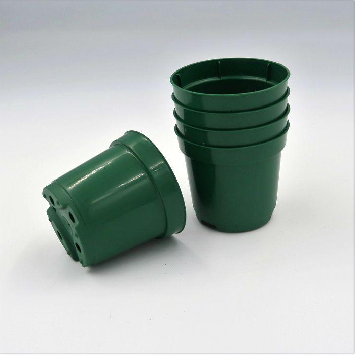 Vaso plastico - pote 06 - verde escuro - kit 18 un