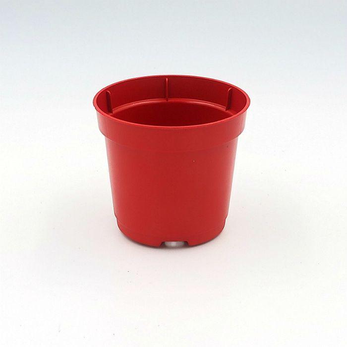 Vaso plastico - pote 06 - vermelho