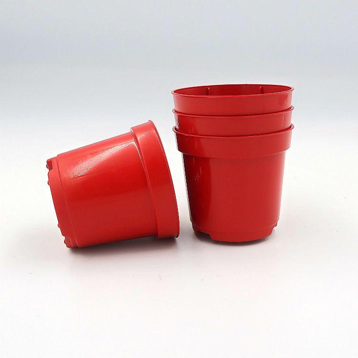 Vaso plastico - pote 06 - vermelho - kit 18 un