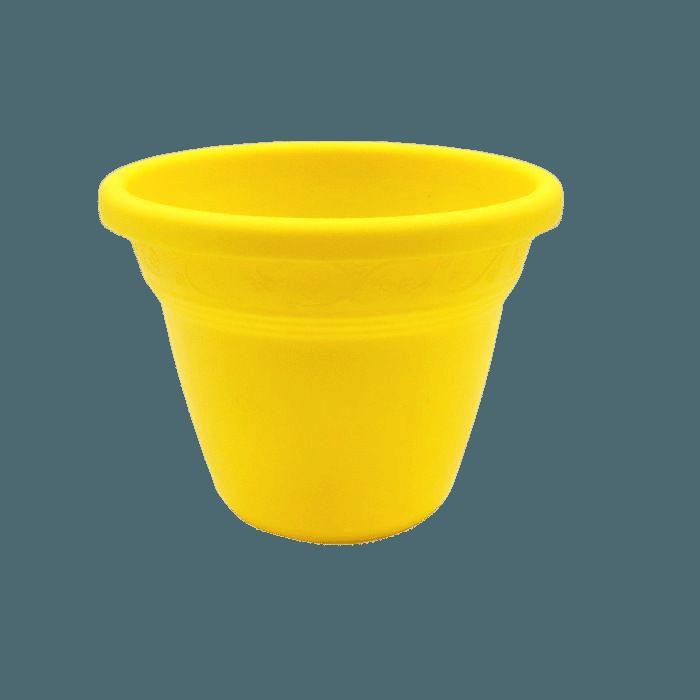 Vaso plástico - vicenza - amarelo - 08 x 10 cm