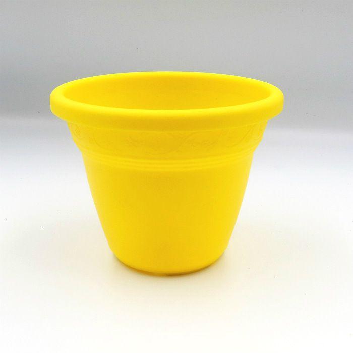 Vaso plástico - vicenza - amarelo - 10 cm