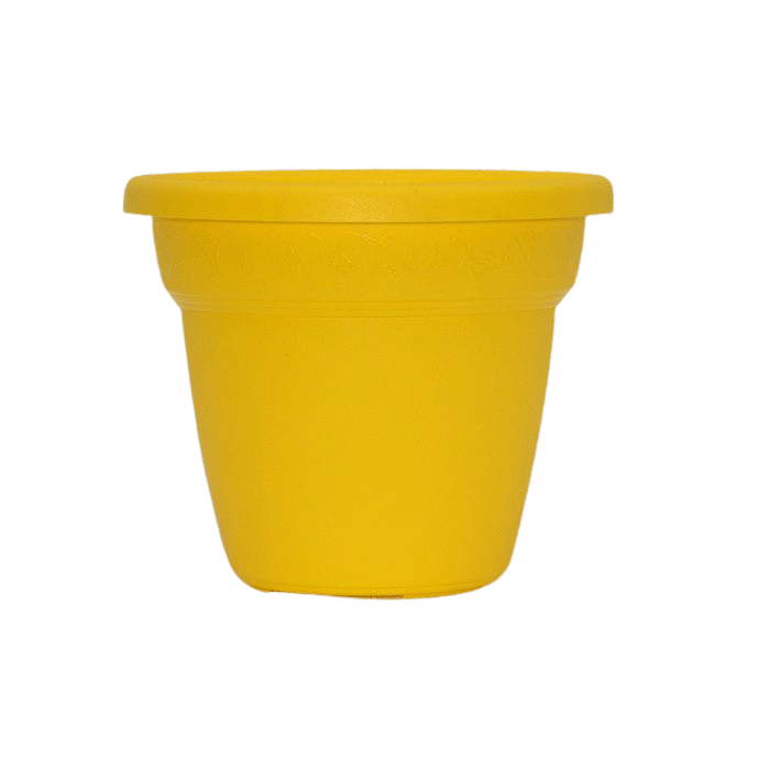 Vaso plastico - vicenza - amarelo - 16 x 19 cm