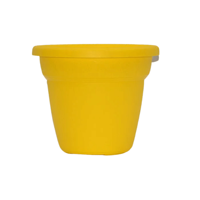 Vaso plastico - vicenza - amarelo - 16 x 19 cm - kit 03 unid