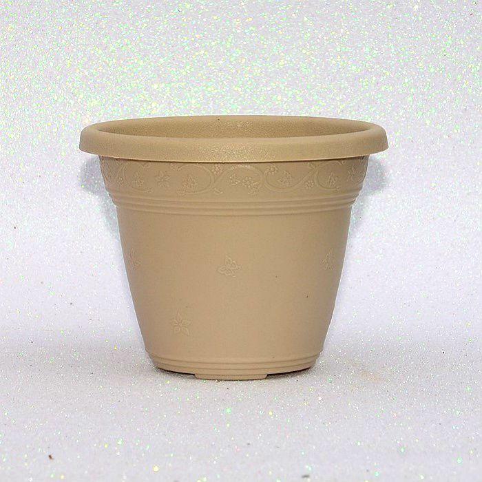 Vaso plástico - vicenza - areia - 10 cm