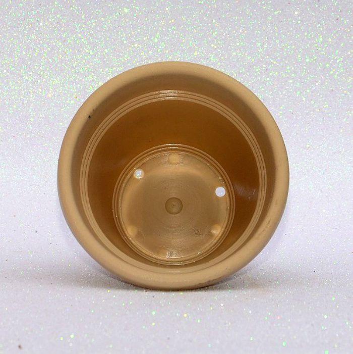 Vaso plástico - vicenza - areia - 10 cm - kit 10 un