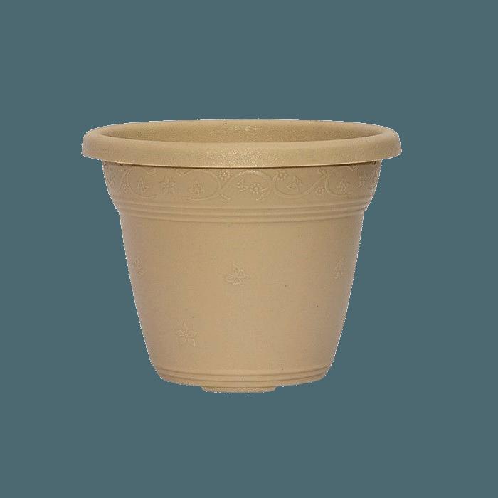Vaso plástico - vicenza - areia - 10 x 13 cm