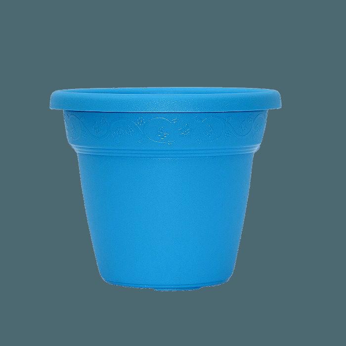 Vaso plastico - vicenza - azul claro - 16 x 19 cm