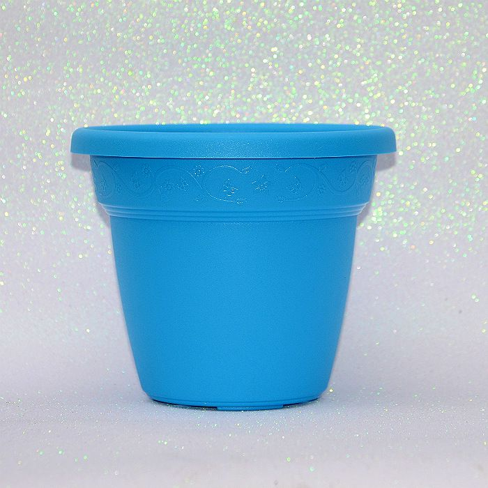 Vaso plastico - vicenza - azul claro - 19 cm