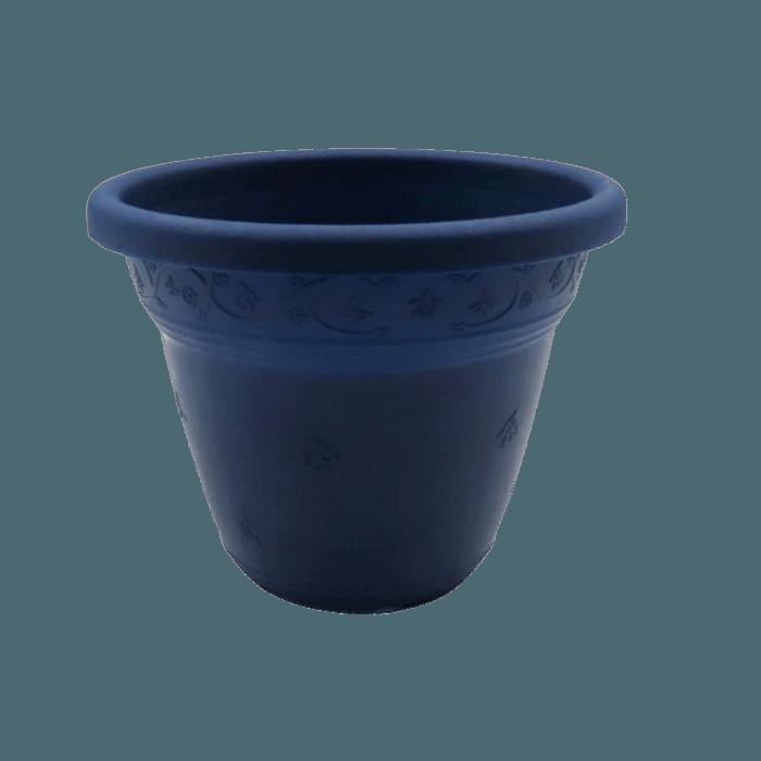 Vaso plástico  - vicenza - azul marinho - 08 x 10 cm