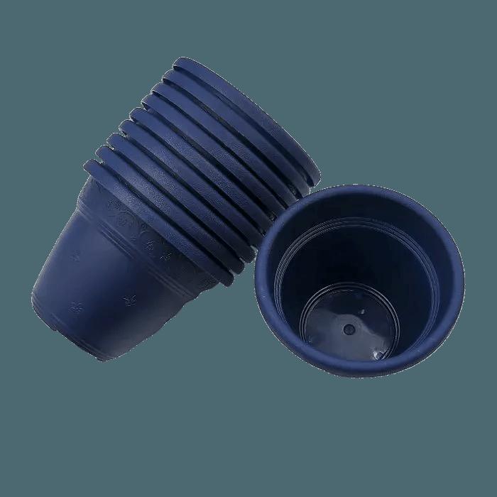 Vaso plastico  - vicenza - azul marinho - 08 x 10 cm - Kit 10 unid