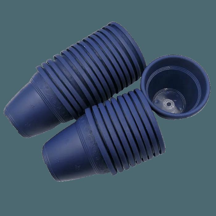 Vaso plastico  - vicenza - azul marinho - 08 x 10 cm - Kit 24 unid