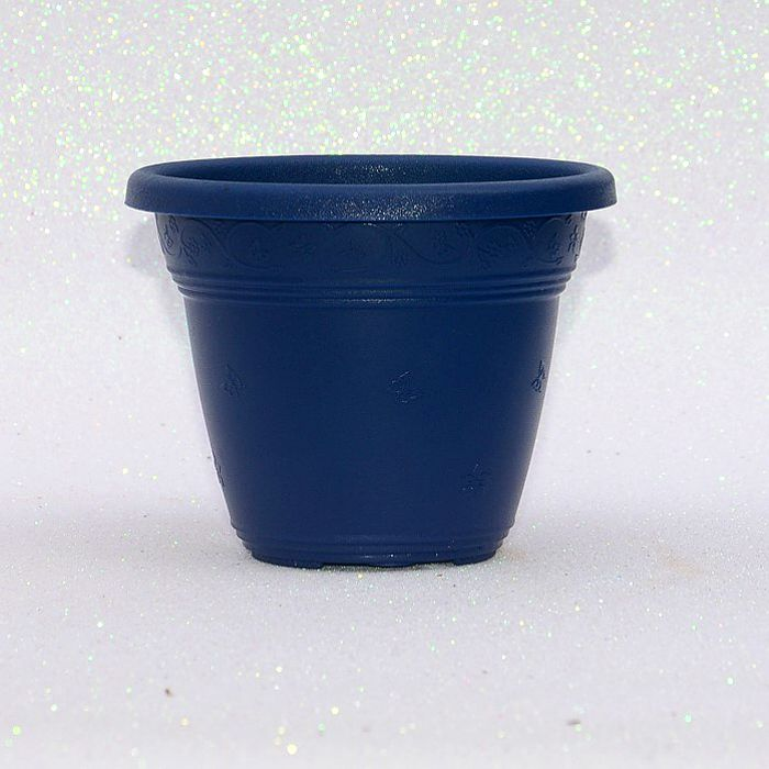 Vaso plástico  - vicenza - azul marinho - 10 cm