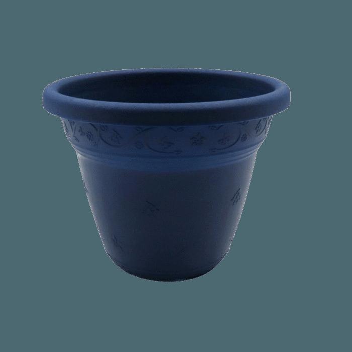 Vaso plástico - vicenza - azul marinho - 10 x 13 cm