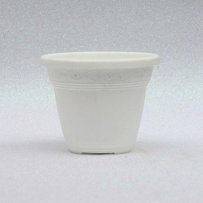 Vaso plástico  - vicenza - branco - 10 cm