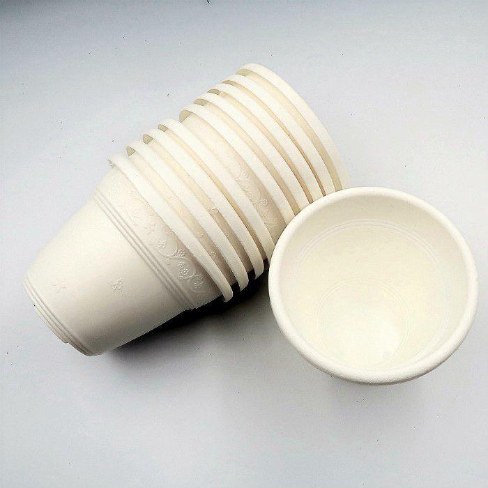 Vaso plástico  - vicenza - branco - 08 x 10 cm - Kit 10 unid
