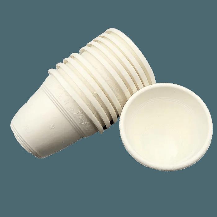 Vaso plastico - vicenza - branco - 10 x 13 cm - kit 10 unid