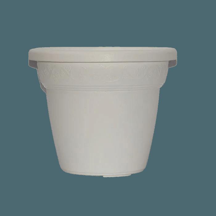Vaso plastico - vicenza - branco - 16 x 19 cm - kit 06 unid