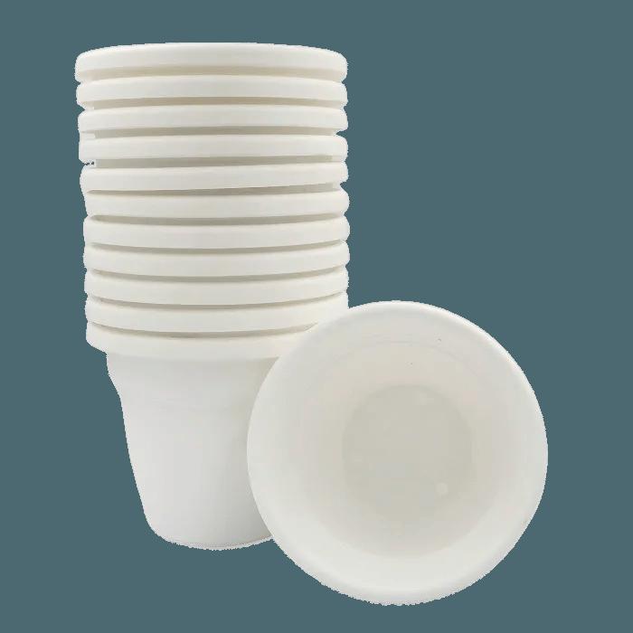Vaso plastico - vicenza - branco - 16 x 19 cm - kit 12 unid