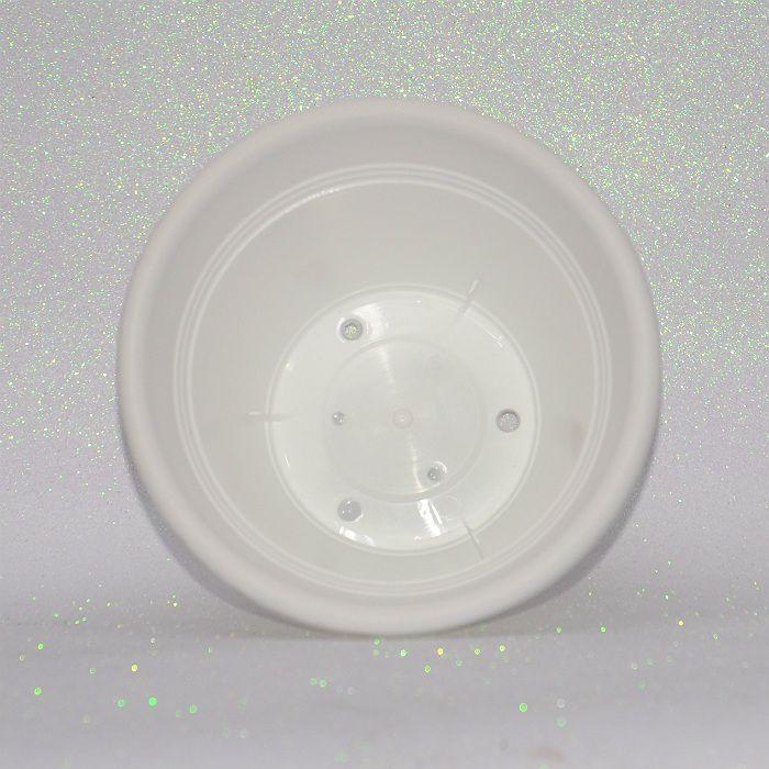 Vaso plastico - vicenza - branco - 19 cm