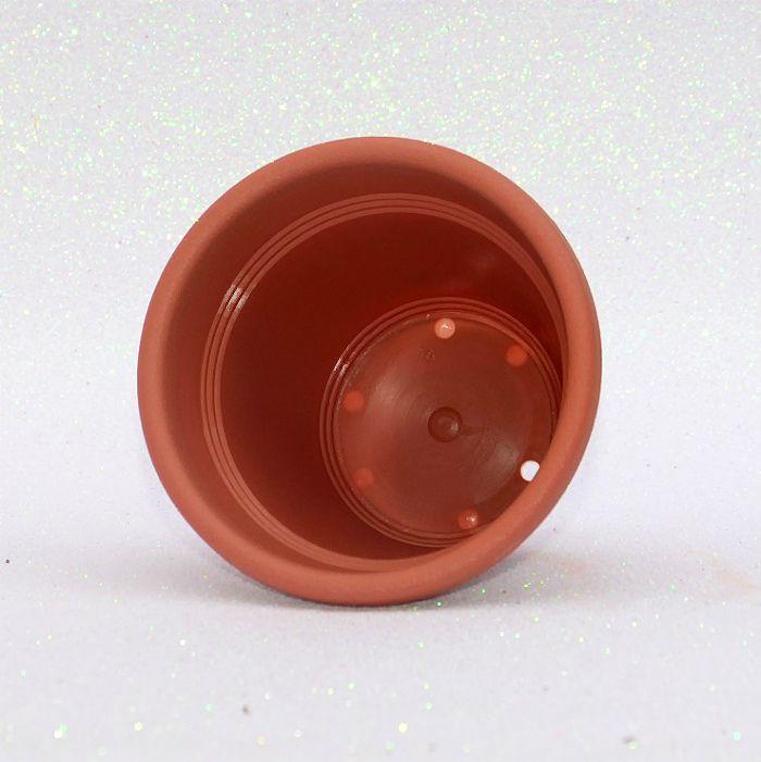 Vaso plástico - vicenza - cerâmica - 10 cm - Kit 10 un