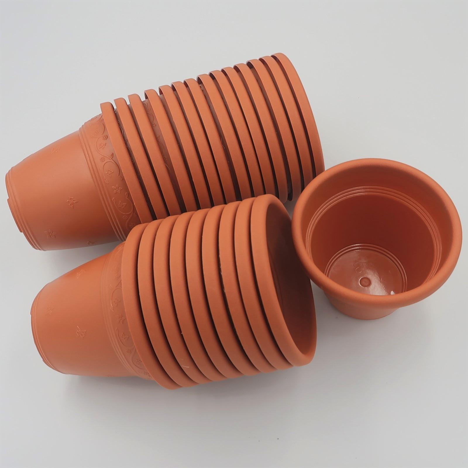 Vaso plástico - vicenza - ceramica - 10 x 13 cm - Kit 24 unid