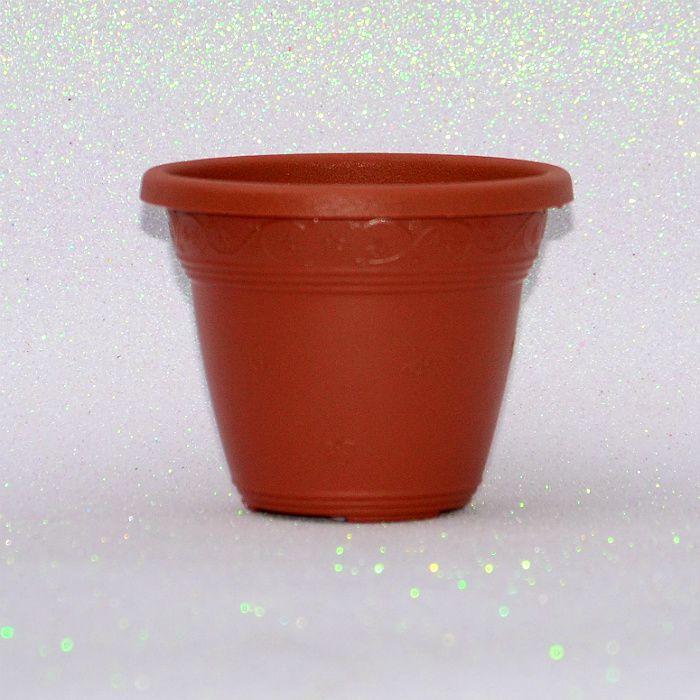 Vaso plástico - vicenza - ceramica - 13 cm - Kit 10 un