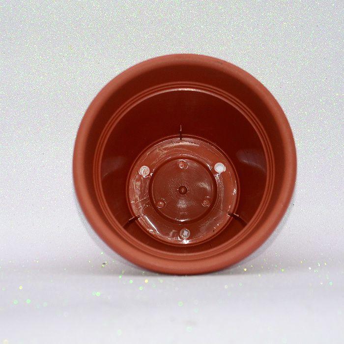 Vaso plastico - vicenza - cerâmica - 19 cm - kit 05 un