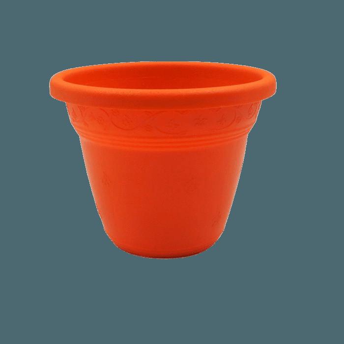 Vaso plástico - vicenza - laranja - 08 x 10 cm