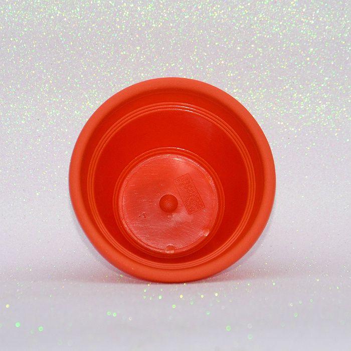 Vaso plástico - vicenza - laranja - 10 cm