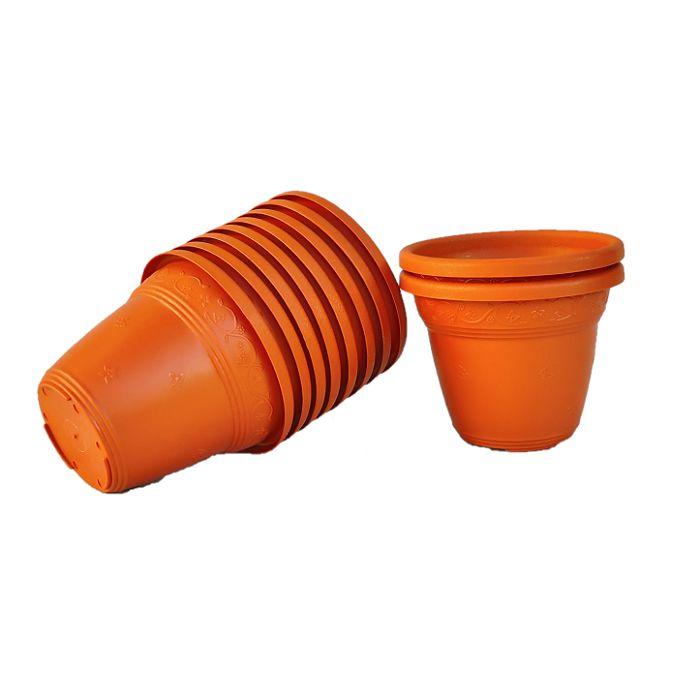 Vaso plástico - laranja 10 cm
