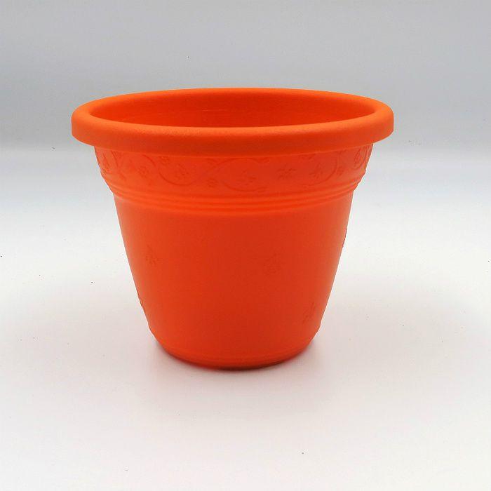 Vaso plástico - vicenza - laranja - 08 x 10 cm - Kit 10 unid