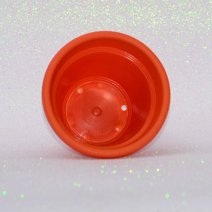 Vaso plástico - vicenza - laranja - 13 cm