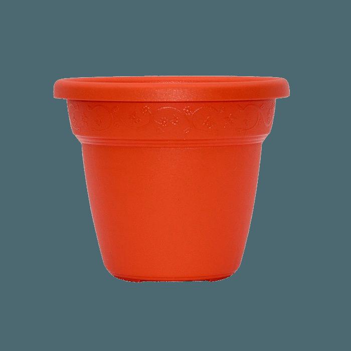 Vaso plastico - vicenza - laranja - 16 x 19 cm